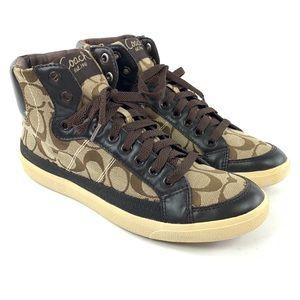 Coach High Top Sneakers A1736 Ellis Shoes Size 8.5